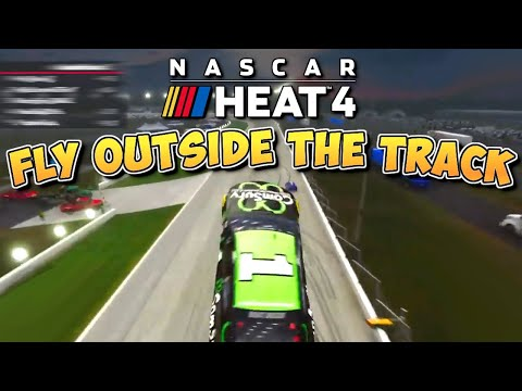 Flying OUTSIDE the Track Glitch! - NASCAR Heat 4 Funny Moments (September)