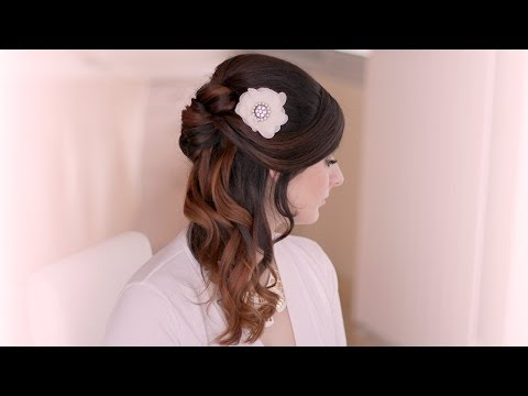 Holiday hair tutorial: half up half down hairstyle with curls - Ünnepi frizura
