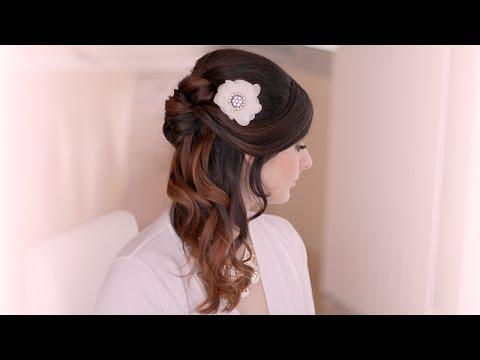 Holiday hair tutorial: half up half down hairstyle with curls - Ünnepi frizura