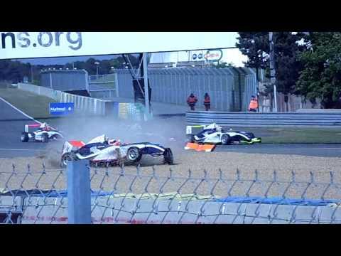 Moineault Big Flip @ 2014 Formula 4 Le Mans Race 2