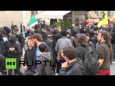 Italy: Clashes in Milan as leftist students rail against Expo Milano 2015