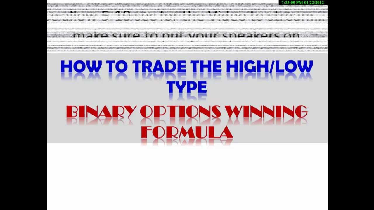 Binary options winning formula download