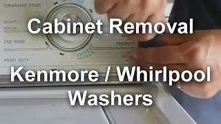 Whirlpool Kenmore Washer Cabinet Removal Video