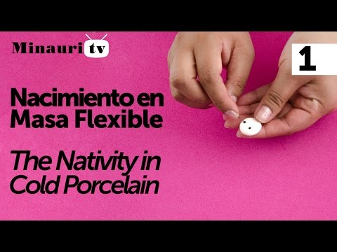 Nacimiento en Masa Flexible 1/2 ( Holy Family Christmas Ornaments ) 02031 Minauri QMCreatv@s