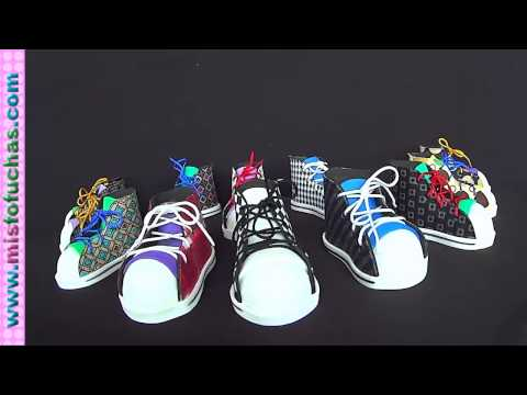Recordatorios en Foamy Zapatos Tennis Converse All Star para fofuchas Parte 1