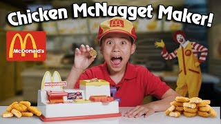McDonald's CHICKEN McNUGGET MAKER!!! Turn Bread Into Chicken!