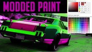 GTA 5 How To Get Modded Paint Jobs & Best Paint Jobs In