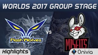 FW vs MSF Highlights World Championship 2017 Group Stage Flash Wolves vs Misfits by Onivia