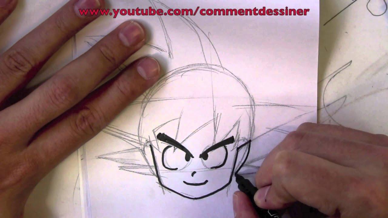 Comment dessiner goku dessin de goku youtube - Comment dessiner goku ...