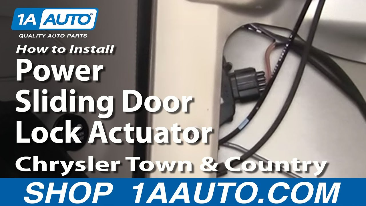 How To Install Replace Power Sliding Door Lock Actuator
