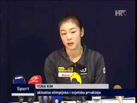 [2013.12.05] 김연아 Yuna KIM News (HRT) Golden Spin of Zagreb 2013