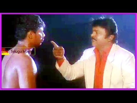 Vijayakanth Warning The Goon - In Raghupathi IPS Telugu Movie