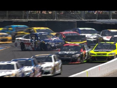 Bowyer and Harvick Crash @ 2014 Toyota Save Mart 350