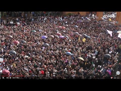 مسيرة حاشدة للنقابات التعليمية -هسبريس-