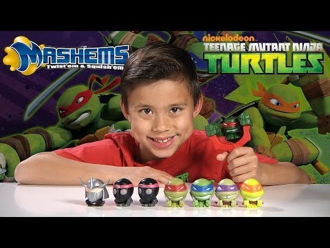 Teenage Mutant Ninja Turtles MASH'EMS & FIST FLYERS + Tortoise Action!