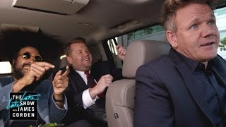 Gordon Ramsay Drives James & Reggie to LAX - #LateLateLondon