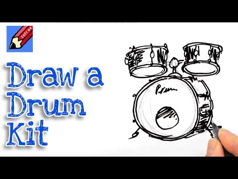 How to draw a Bass drum and Toms Real Easy Spoken Tutorial ...