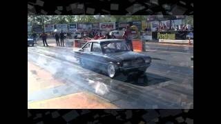 Mazda 1300 13b Turbo runs PB 8.1 @ 166 Dragmasters 2012