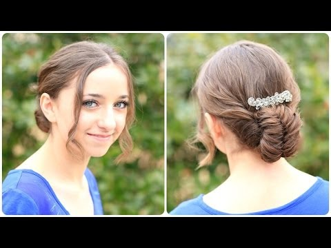How to Create a Flipped Fishtail Updo - Fejtetőre fésült frizura