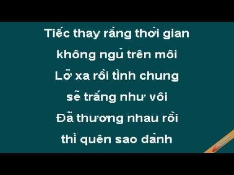 Neu Anh Dung Hen Karaoke - Hoàng Lan - CaoCuongPro
