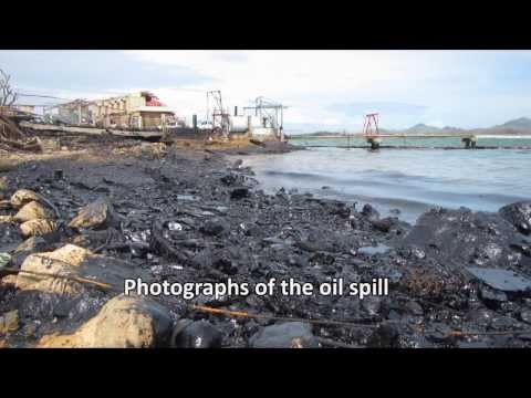 Oil Spill in Estancia as a result of Typhoon Yolanda (Haiyan) The Philippines