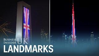 العلم البريطاني يغطي برج خليفة تضامنا مع ضحايا هجوم مانشستر | قنوات أخرى