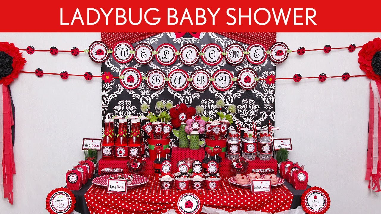 ladybug baby shower party ideas ladybug s18 youtube