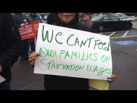 Fast-food workers protest wages
