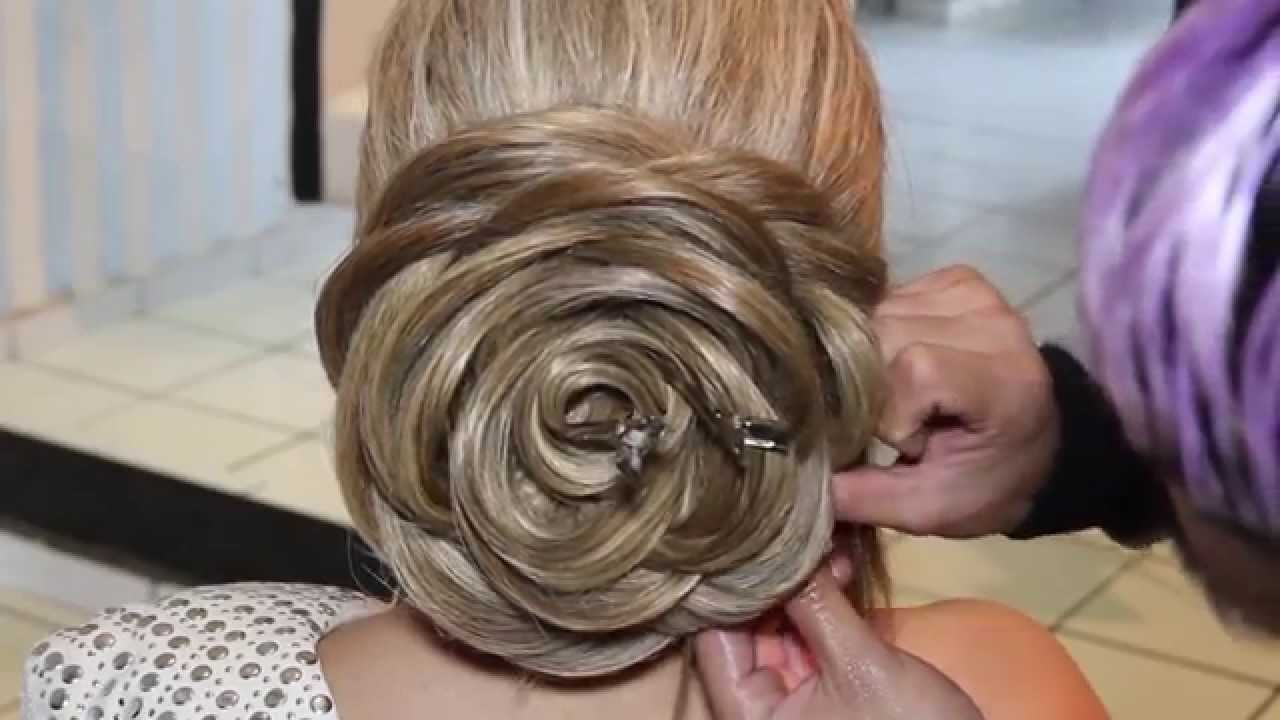 Rose hairstyle tutorial - YouTube