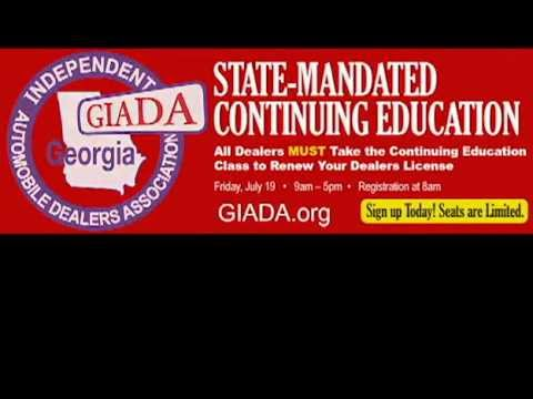 Georgia Auto Dealer Continuing Education Class Promo