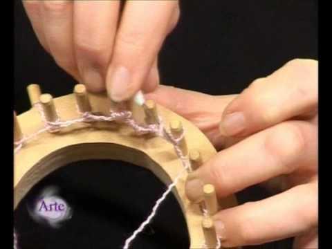 Cómo tejer una cortina con bastidor circular
