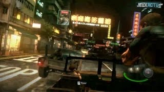 Resident Evil 6 Gameplay : Car chase in chinese streets !