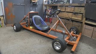 Making a Motorised Go Cart with NO WELDER and simple tools #1 - Chassis/Engine