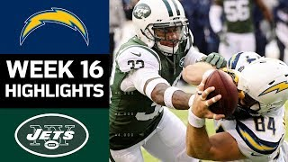 Chargers vs. Jets   NFL Week 16 Game Highlights
