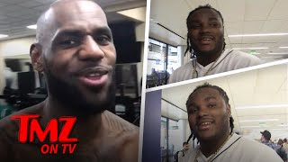 Lebron James Raps To Tee Grizzley's 'First Day Out' and Record Sales BOOM!   TMZ TV