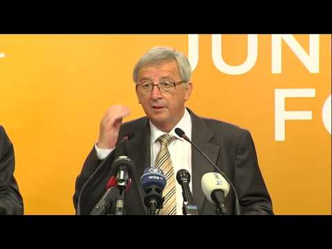 Press conference of Jean-Claude Juncker, EPP candidate for President of the European Commission