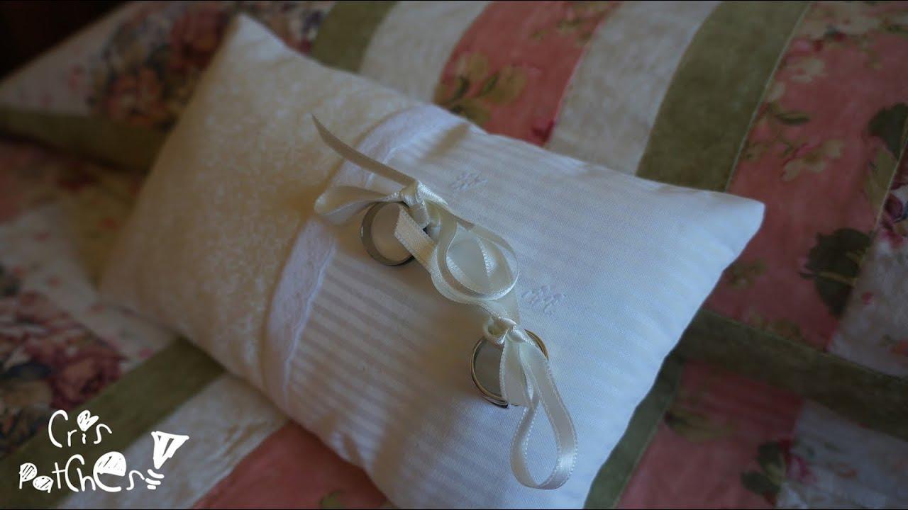 Como hacer coj n para las alianzas anillos de boda patchwork youtube - Como hacer pachwork ...