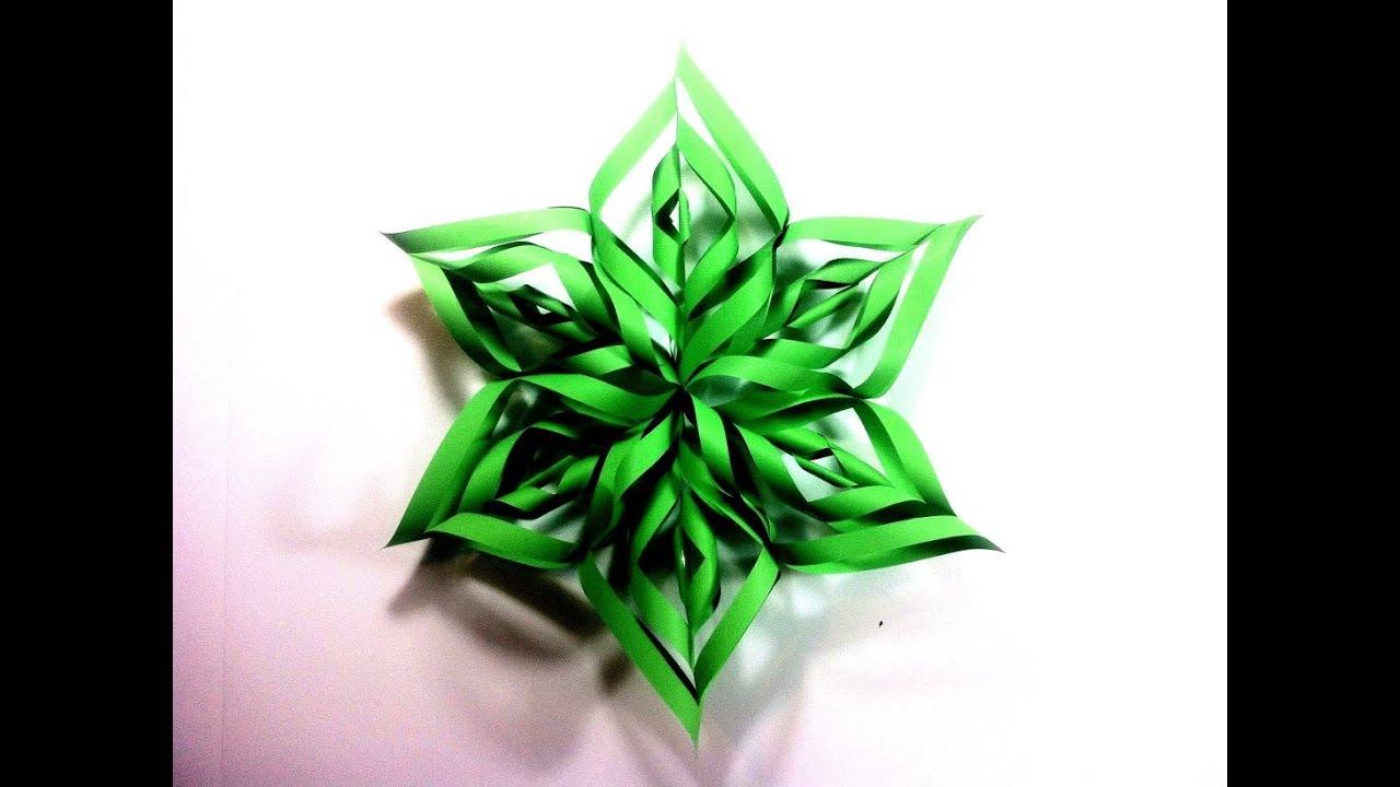 C mo hacer una estrella de navidad 3d de papel tutorial - Adornos de navidad con papel ...