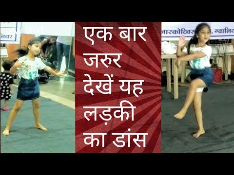 cute indian girl dance | performance on bollywood song | deva shree ganesha song | in gwalior mall 2