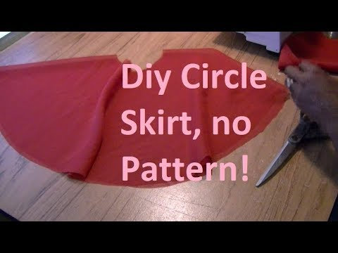 DIY Cut A Circle Skirt  Without A Pattern