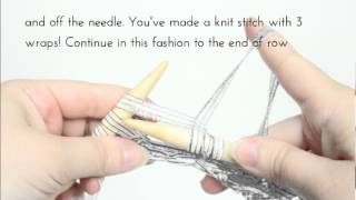 Wrapping Yarn Multiple Times Around Needle