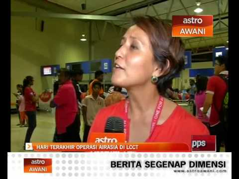 Hari terakhir operasi AirAsia di LCCT