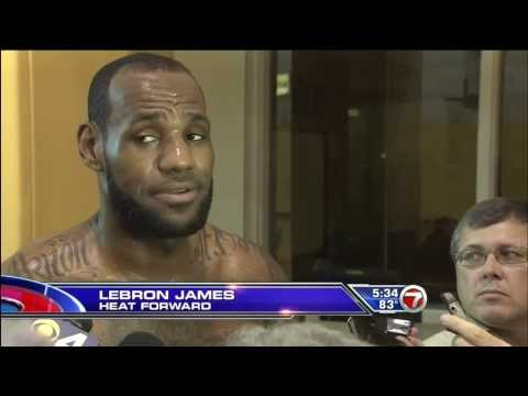 February 25, 2014 - WSVN7 - LeBron James Will Wear Protective Mask, Miami Heat Sign DeAndre Liggins