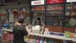 GTA 5 Online Store Robbery Gameplay