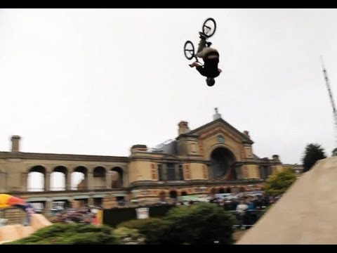 BMX dirt riding at a Palace - Red Bull Empire of Dirt 2012 London