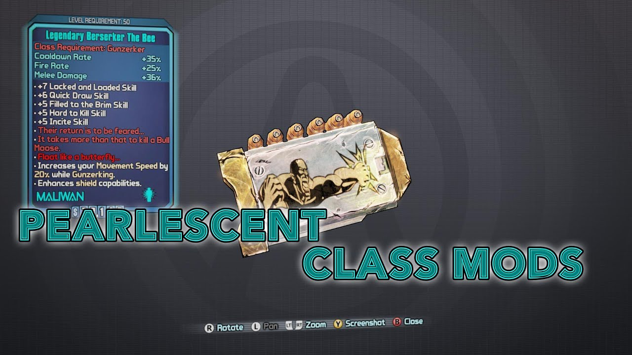 Borderlands 2 - Pearlescent Class Mods! - YouTube Borderlands 2 Gibbed Codes