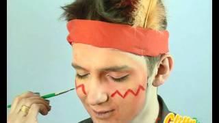 Indianer Schminken Z.B. Als Kinderschminken Vorlage