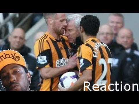 Alan Pardew Headbutt to David Meyler - Hull vs. Newcastle  Why in sports? kas reaction