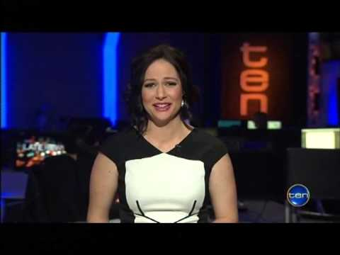 Natasha Exelby Flirts,Laughs, Gets The Giggles on Ten News