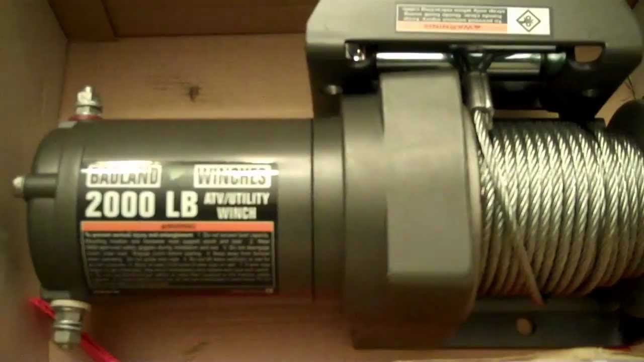 Badland Winch 2000lbs - Harbor Freight - Cheap